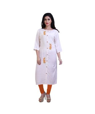 Floral embroidered Kurta For Women
