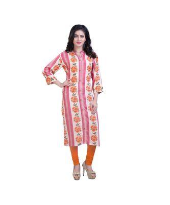 Pink Floral Print kurta For Women