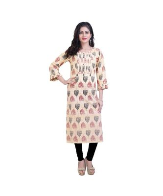 Floral print with Embellishment Kurta For Women
