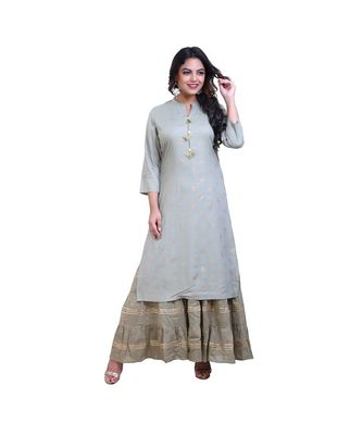 Layered Floor Length Gown For Women