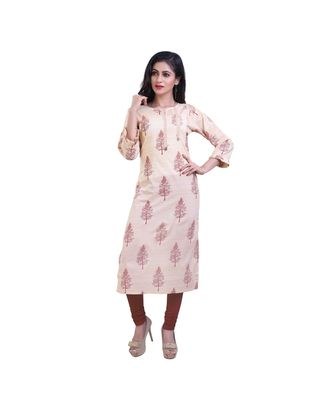 Yellow Printed Kurta For Women