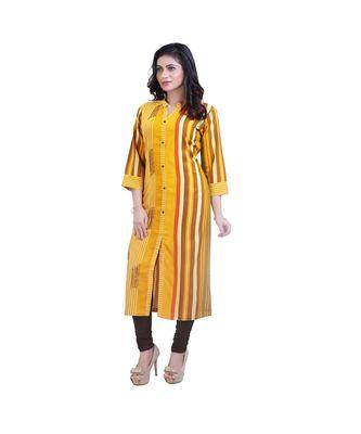Yellow Striped kurta  For Women