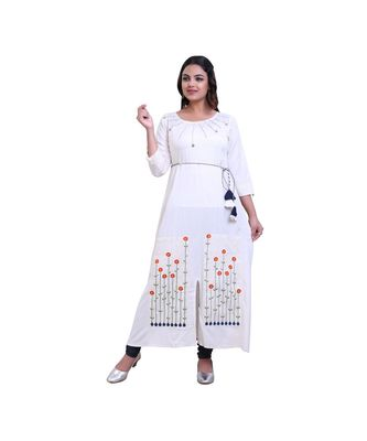 Offwhite Kurta For Women