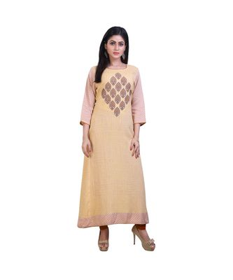 Yellow& Peach Kurta For Women