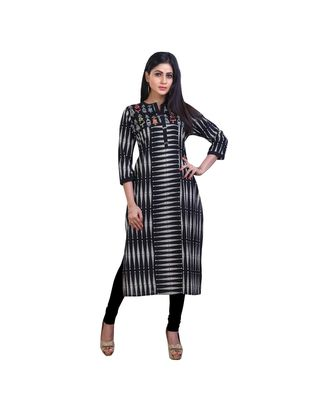 Black printed Kurta For Women