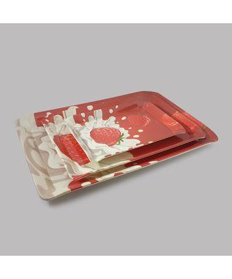 Ferrari Red Strawberry High Grade Melamine Serving Plates