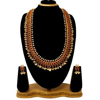 Maroon necklace-sets