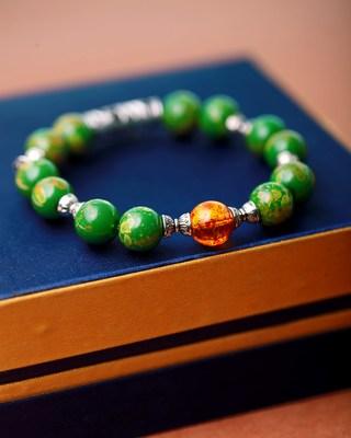 Tiger's Eye Green Stones Bracelet