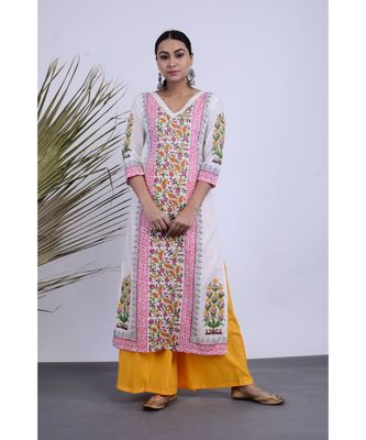 Avni Hanblock Kurta Set Three