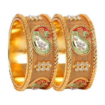 Multicolor crystal bangles-and-bracelets