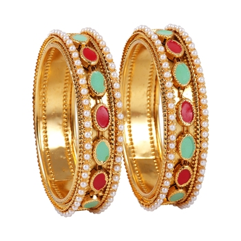 Multicolor crystal bangles-and-bracelets