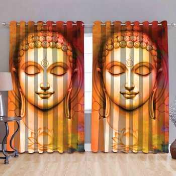 Buddha polyester curtains