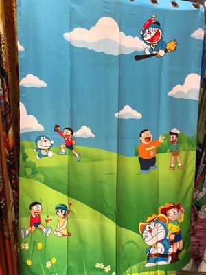 doraemon polyester curtains