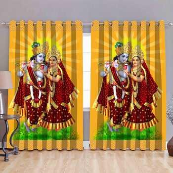 radhekrishana love polyester curtains