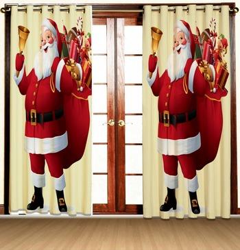santa full polyester curtains