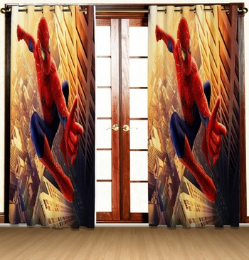 spider man polyester curtains