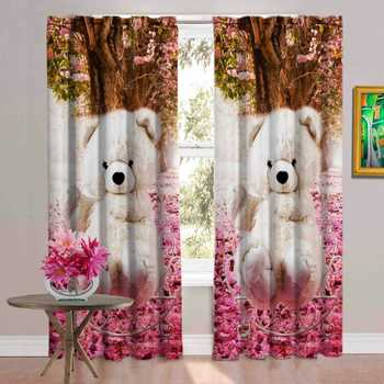 teddy white polyester curtains