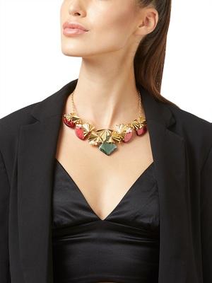 Gold malachite necklaces
