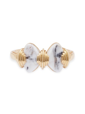 Gold malachite bracelets