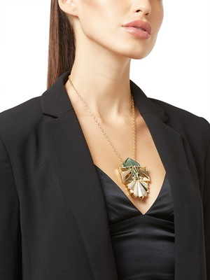 Gold malachite pendants
