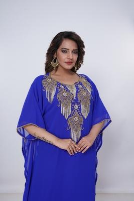 Dubai Kaftan Women Dress Moroccan Caftan Long Farasha Maxi Dress Al9314
