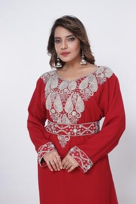 Dubai Kaftan Women Dress Moroccan Caftan Long Farasha Maxi Dress Al198