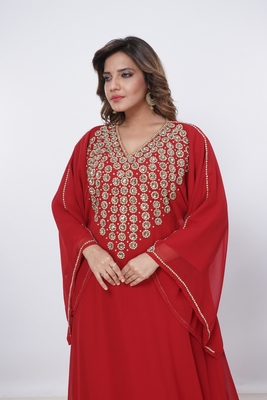 Dubai Kaftan Women Dress Moroccan Caftan Long Farasha Maxi Dress Al202