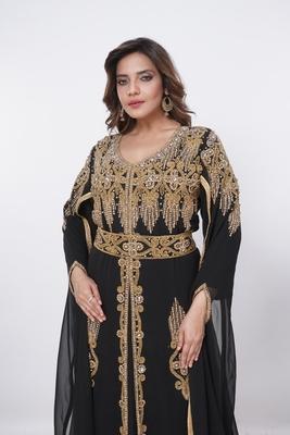 Dubai Kaftan Women Dress Moroccan Caftan Long Farasha Maxi Dress Al204