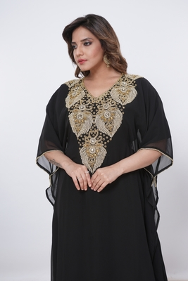Dubai Kaftan Women Dress Moroccan Caftan Long Farasha Maxi Dress Al209