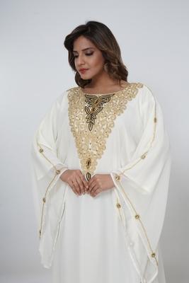 Dubai Kaftan Women Dress Moroccan Caftan Long Farasha Maxi Dress Al210