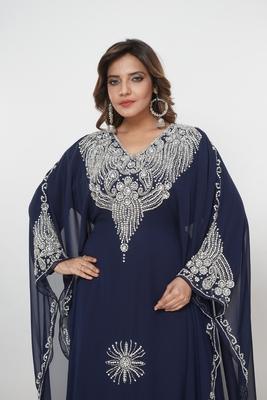 Dubai Kaftan Women Dress Moroccan Caftan Long Farasha Maxi Dress Al215