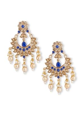 Blue Bollywood Style Chandbali