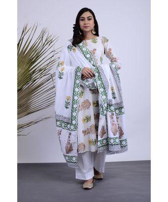 Rimsha Hand Block Cotton Set of  Three