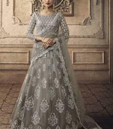Grey Bridal Net Lehenga Choli