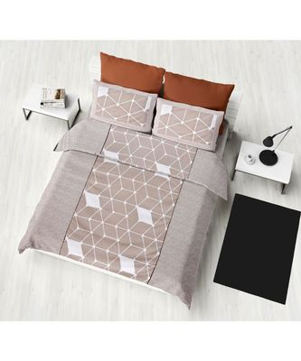 pure cotton multicolour king size double  bed bedsheet with pillow cover