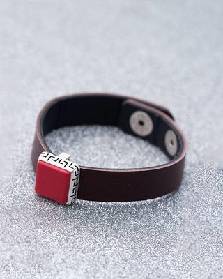 Milestone Brown Leather Bracelet
