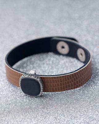 Cocoa Milestone Leather Bracelet