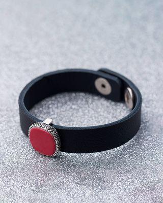 Bold Black & Red Milestone Bracelet