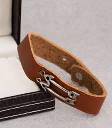 Arrows Leather-Look Bracelet for Men