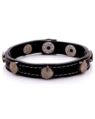 Studded Silver Plated Bracelet for Men