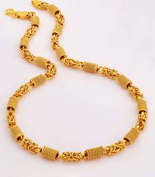 Men        s Designer Link Chain with Gold Plating