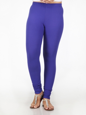 Women  Blue Polycotton Churidar Legging
