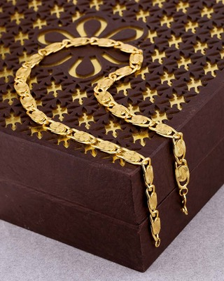 Linking Laureate Brass Chain