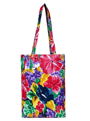 Eco-Friendly Multicolour Floral Print Canvas Shoulder Bag