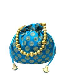 Buy brocade small ethnic potli (Blue) potli-bag online