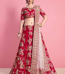 Light Pink Embroidered Velvet Unstitched Lehenga