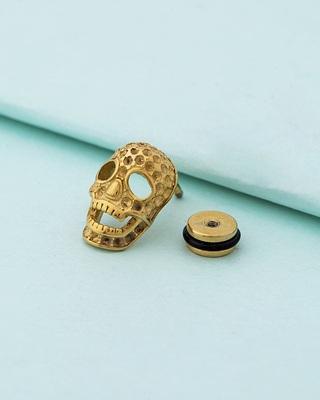Royal Stud Skull Mask Earring
