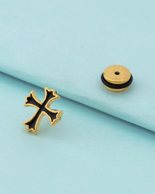 Royal Stud Cross Earring