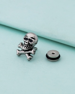Royal Stud Skull Steel Earring