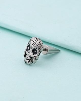 Royal Stud Skull Stainless Steel Earring